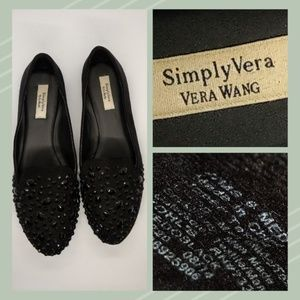 Simply Vera Wang Black Beaded Shoes Size 8